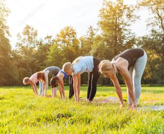 Pilates in der Natur